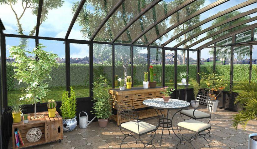 comment am nager un jardin d hiver le jardineur. Black Bedroom Furniture Sets. Home Design Ideas